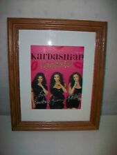 Framed KARDASHIAN KONFIDENTIAL Kourtney Kim Khloe Picture Poster
