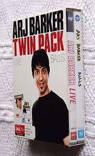 ARJ BARKER: LIVE/ BALLS - TWIN PACK (DVD, 2-DISC BOX SET) R-ALL, LIKE NEW