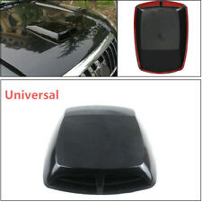 1X Auto Car 3D Car Air Flow Intake Hood Scoop Vent Bonnet Cover Black Sticker