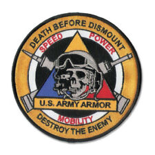 """Embroidered US TANKER patch - 5"""" diameter patch with merrowed edge w/ wax back"""