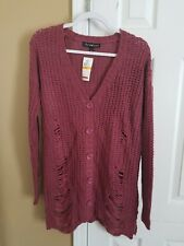 Derek Heart  Cardigan  Sweater  Size Small Pink