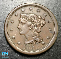 1856 Braided Hair Large Cent --  MAKE US AN OFFER!  #B6242
