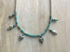 GREAT GIFT!!! NEW BRIGHTON-Turquise and silver necklace-SO CUTE!!!