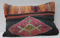 16'' X 24'' Tree of Life Pattern Vintage Turkish Handwoven Kilim Pillow Cover