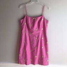 Lilly Pulitzer Vintage Pink Embroidered Dress Sz 6