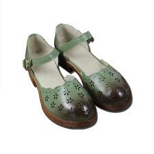 Buckle Low (3/4 in. to 1 1/2 in.) Medium (B, M) Solid Sandals & Flip Flops for Women