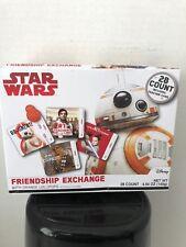 Star Wars Valentine's Day Cards Exchange with Orange Lollipops, 28 Count