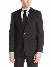 NWT $400 Dkny 42R Black Skinny Modern Lapels Pin Dot Double Vented Suit Jacket