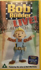 BOB THE BUILDER LIVE! {VHS/PAL VIDEO} NEIL MORRISSEY. RARE & OOP ~ DELETED TITLE
