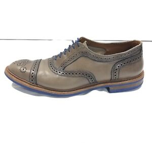 Allen Edmonds STRANDMOK Cap Toe Oxford Size 12 Gray Blue Discontinued Colorway