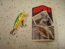 RAPALA ORIGINAL F-3 FT_ESCHE ARTIFICIALI- FLOATING 3cm/2g FIRE TIGER VERT FLUO