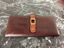 Wilsons Leather Red Italian Leather Checkbook Wallet Clutch Organizer