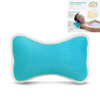 US Bath Spa Pillow Relaxing Massage with 2 suction Cups for Bathtub Hot Tub blue
