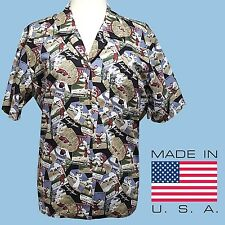 TAIL Cotton Golf Shirt Button Front Womens Large Short Sleeve