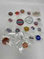 Lot of 20 Vintage Political Campaign Pinback Buttons Mixed Variety