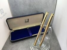More details for dunhill rolled gold ballpoint and pencil set