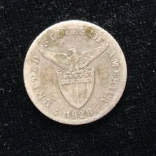 1928m (MULE) 20 centavos  US-Philippines Silver Coin - lot #20