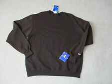 NEW Champion Sweater Size Adult Large Brown Crewneck Pull Over Mens 90s