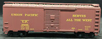 ATHEARN : UNION PACIFIC UP 184241. BROWN BOXCAR.  VINTAGE HO SCALE H0
