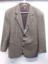 Valentino Men's Brown Check Plaid Blazer Sport Coat (Size 48EU 40US) Italy