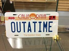 Back To The Future, Outatime Vanity Novelty license plate Made With Pride In Usa