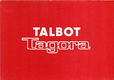 Talbot Tagora 1981 UK Market Launch Foldout Sales Brochure 2.2 GL GLS