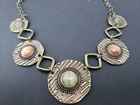 Christopher and Banks Medallion and Stone Statement Necklace - NWT