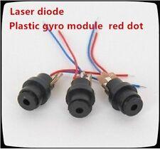 3pcs/lot Adjustable Focus 650nm 6mm 3V-5V 5mw RED Laser Dot Diode Module Plastic