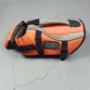 Outward Hound Dog Life Jacket Vest Adjustable Orange Small Pet Life Preserver