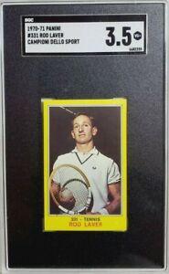 1970 Panini Campioni Dello Sport #331 Rod Laver Rookie Card RC SGC 3.5 VG+ (A)
