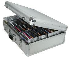 Aluminium CD Flight Storage Lockable Case - Holds 120 Disc Travel Music DJ
