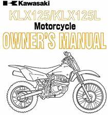 New listing 2005 Kawasaki Klx125 & Klx125L Motorcycle Owners Manual -Klx 125 L-Kawasaki
