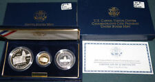 2001 U.S. Capitol Visitor's Center Commemorative 3 Coin Proof Set In Box Gold