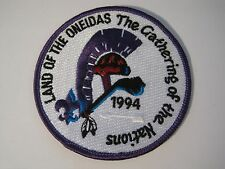 Land of the Oneidas The Gathering of the Nations 1994 BSA Patch boy scouts