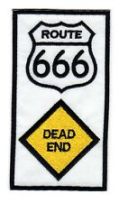 Route 666 / Dead End - Christian Embroidered Motorcycle Vest, Patch