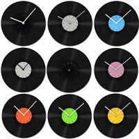 1 Pcs New Home Room Decor Recyle Vinyl Record Wall Clock Clocks Black Color