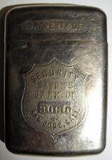 "20s 30s Advertising Bank - ""Security Savings Bank of San Jose, Cali."" #3080"