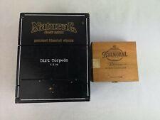 Two Wood Cigar Boxes Natural Drew Estate Dirt Torpedo Balmoral Diana