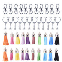 125Pcs/Set Key Chain Ring Pendants Tassel Bulk for DIY Crafts Jewelry Making_hc