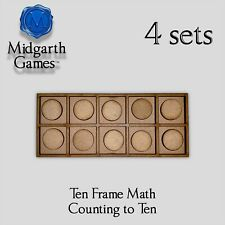 Ten Frame x 4 Educational Counting Elementary School Math Games Free Shipping