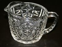 Anchor Hocking Glass Stars and Bars Thousand Line Creamer 8 Available !