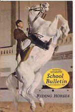national geographic-SCHOOL BULLETIN-nov 4,1963-RIDING HORSES.