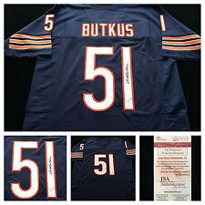 Dick Butkus Chicago Bears Signed Autograph Blue Football Jersey JSA COA