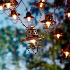 Outdoor String Lights Nautical Lantern 10 Count Vintage Lighting Patio Backyard