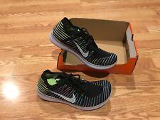 Nike Free RN Flyknit run running shoes black volt blue lagoon pink yellow 10.5