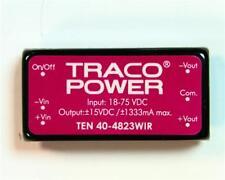 1 x TRACOPOWER DC-DC Converter TEN 40-4823WIR, Vin 18-75V dc, Vout ±15V dc