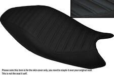 DESIGN 5 BLACK STITCH CUSTOM FITS DUCATI MONSTER 2008-2012 LEATHER SEAT COVER