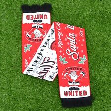 SANTA IS A MANCHESTER UNITED FAN FOOTBALL SCARF CHRISTMAS GIFT