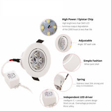 9W Recessed Led Ceiling Down Light Fixture Spotlight Lamp Bulb Warm White 33500K