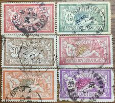 6 Sellos Francia 1900. usados Yvert 119, 120, 121, 143, 145 y 240